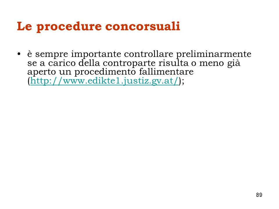 Le procedure concorsuali è sempre importante controllare preliminarmente se a carico della controparte risulta o meno già aperto un procedimento falli