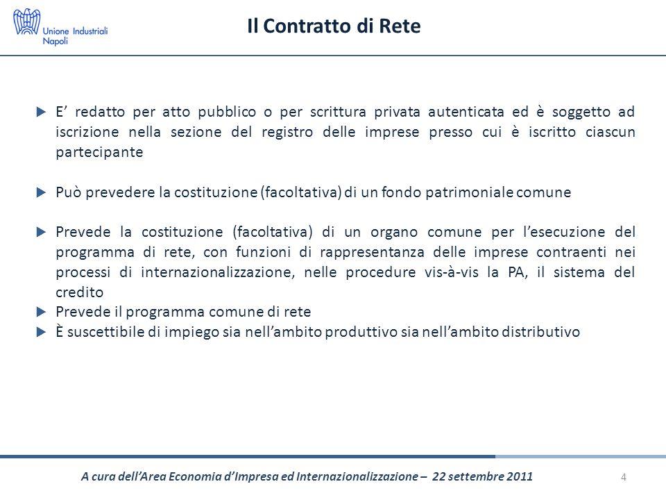 Il Contratto di Rete E redatto per atto pubblico o per scrittura privata autenticata ed è soggetto ad iscrizione nella sezione del registro delle impr