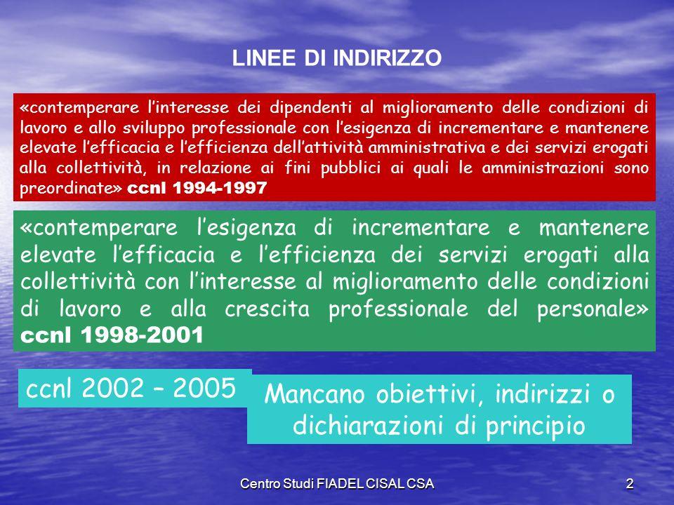 Centro Studi FIADEL CISAL CSA1 Consiglio Nazionale FIADEL CISAL Chianciano Terme (SI) - 25 novembre 2003 Sessione contrattuale Autonomie Locali Relazi