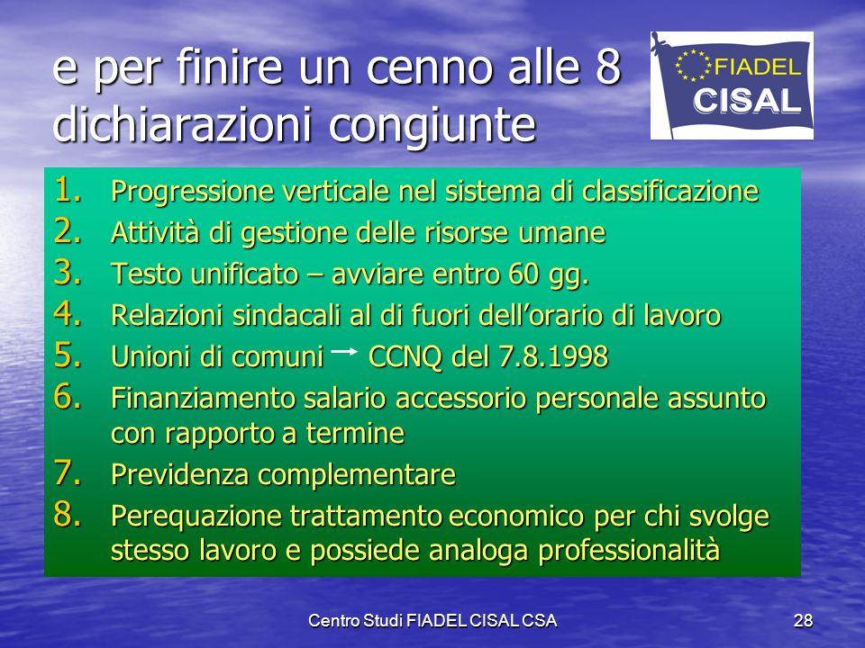 Centro Studi FIADEL CISAL CSA27