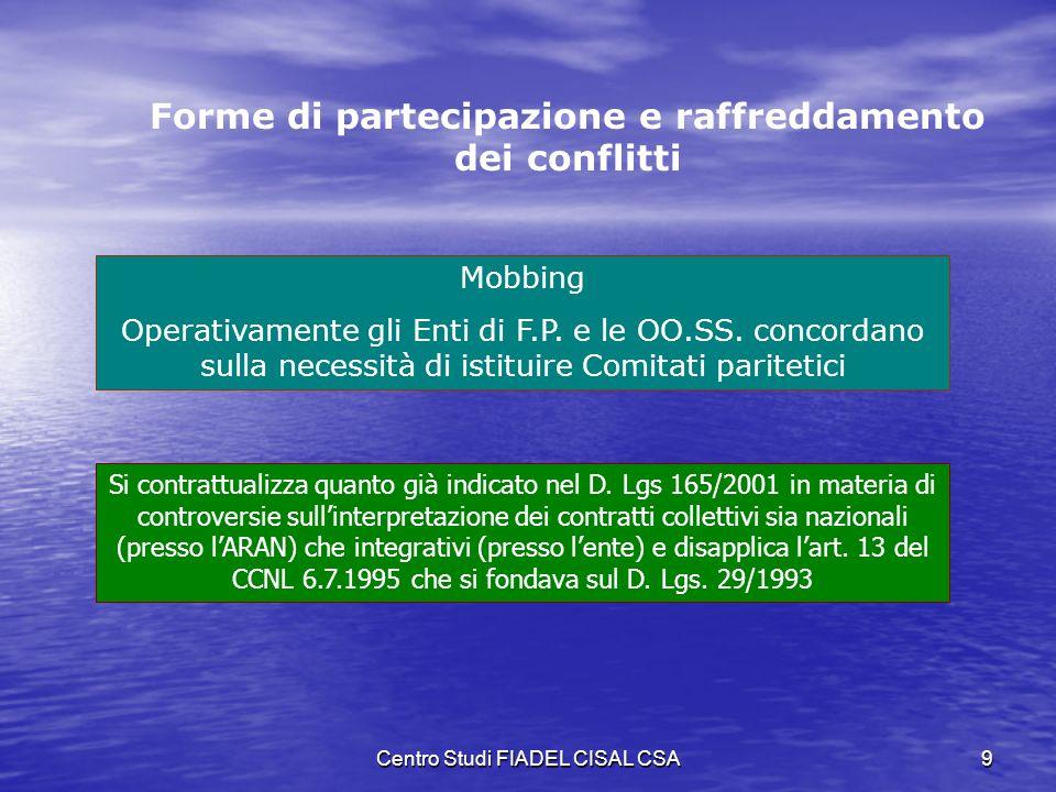 Centro Studi FIADEL CISAL CSA8 Contrattazione, concertazione, consultazione informazione STIPULARE, SOLO SE CONVENIENTE Attività negoziale che può ess