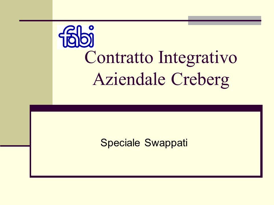 Contratto Integrativo Aziendale Creberg Speciale Swappati