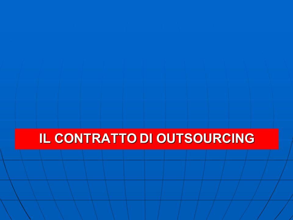 IL CONTRATTO DI OUTSOURCING