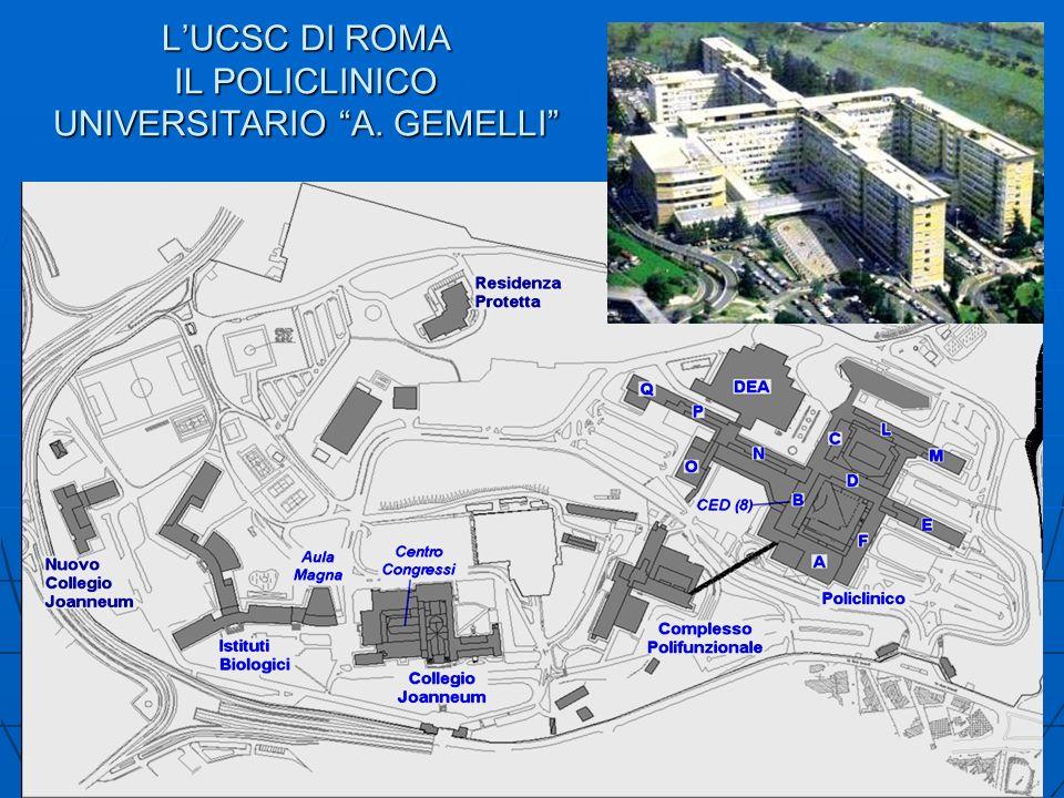 LUCSC DI ROMA IL POLICLINICO UNIVERSITARIO A. GEMELLI