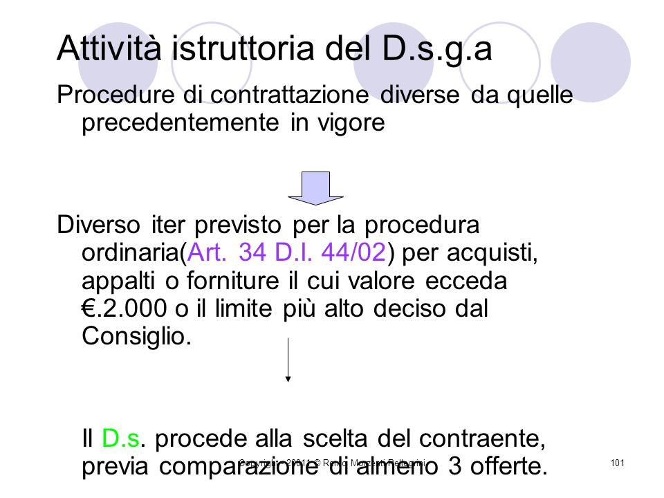 Copyright - 20011 © Remo Morzenti Pellegrini100 D.s.g.a. e minute spese Nessuna novità di rilievo, fatta eccezione per il diverso tenore testuale dell