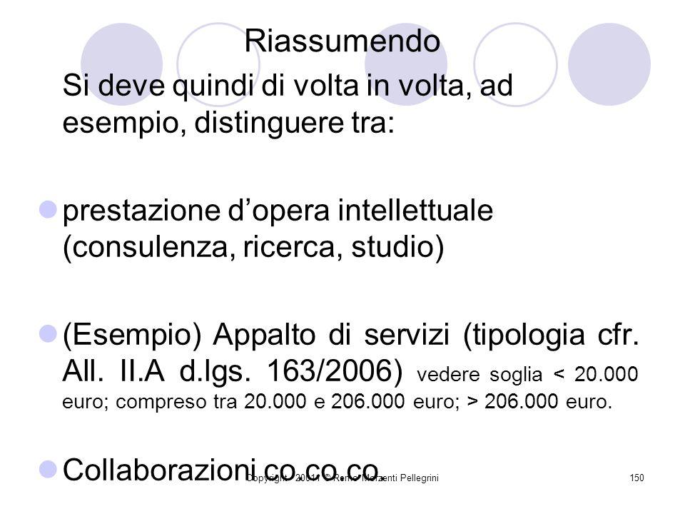 Copyright - 20011 © Remo Morzenti Pellegrini149 D.Lgs. 30-3-2001 n. 165 Modificato art. 3 Fin. 2008 6-bis. Le amministrazioni pubbliche disciplinano e