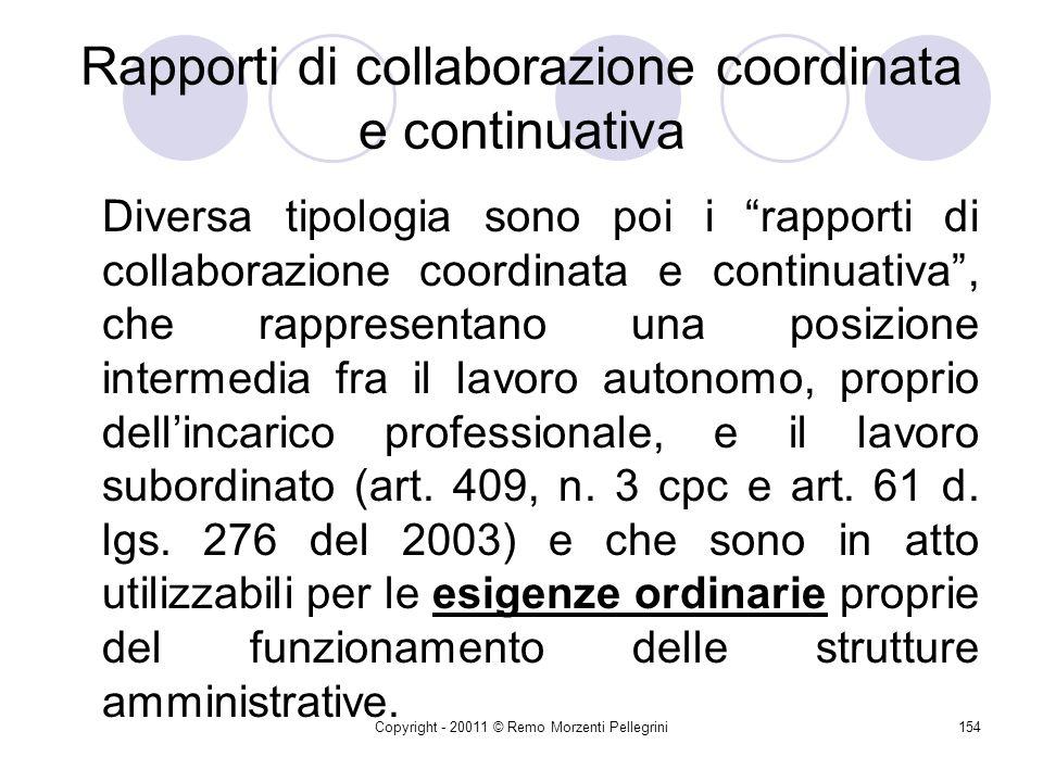 Copyright - 20011 © Remo Morzenti Pellegrini153 Art. 125 dlgs. 163/2006 11. Per servizi o forniture di importo pari o superiore a ventimila euro e fin