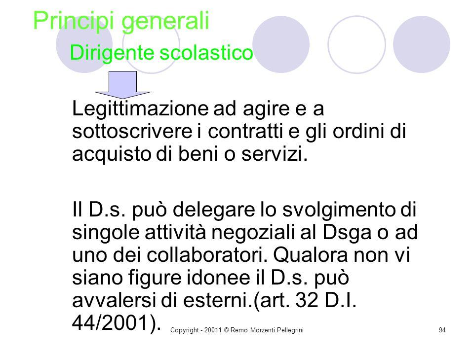 Copyright - 20011 © Remo Morzenti Pellegrini93 Art. 35 (Pubblicità, attività informative e trasparenza dell'attività contrattuale) 1. Copia dei contra