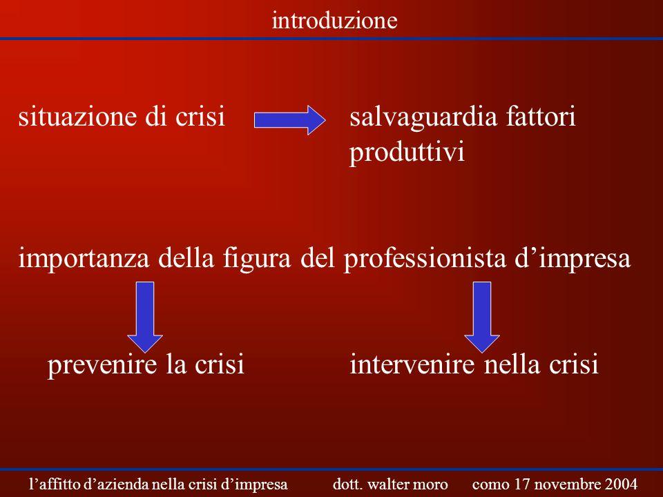 situazione di crisi salvaguardia fattori produttivi importanza della figura del professionista dimpresa prevenire la crisi intervenire nella crisi laf