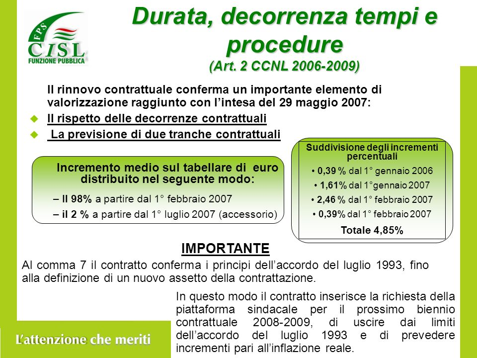 Durata, decorrenza tempi e procedure (Art.