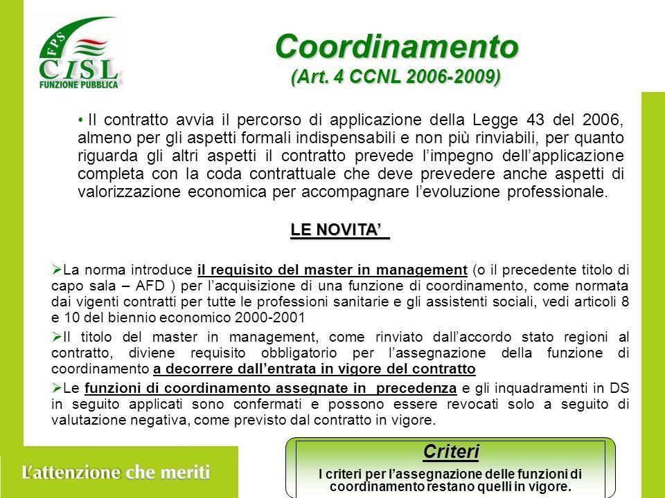 Coordinamento (Art.