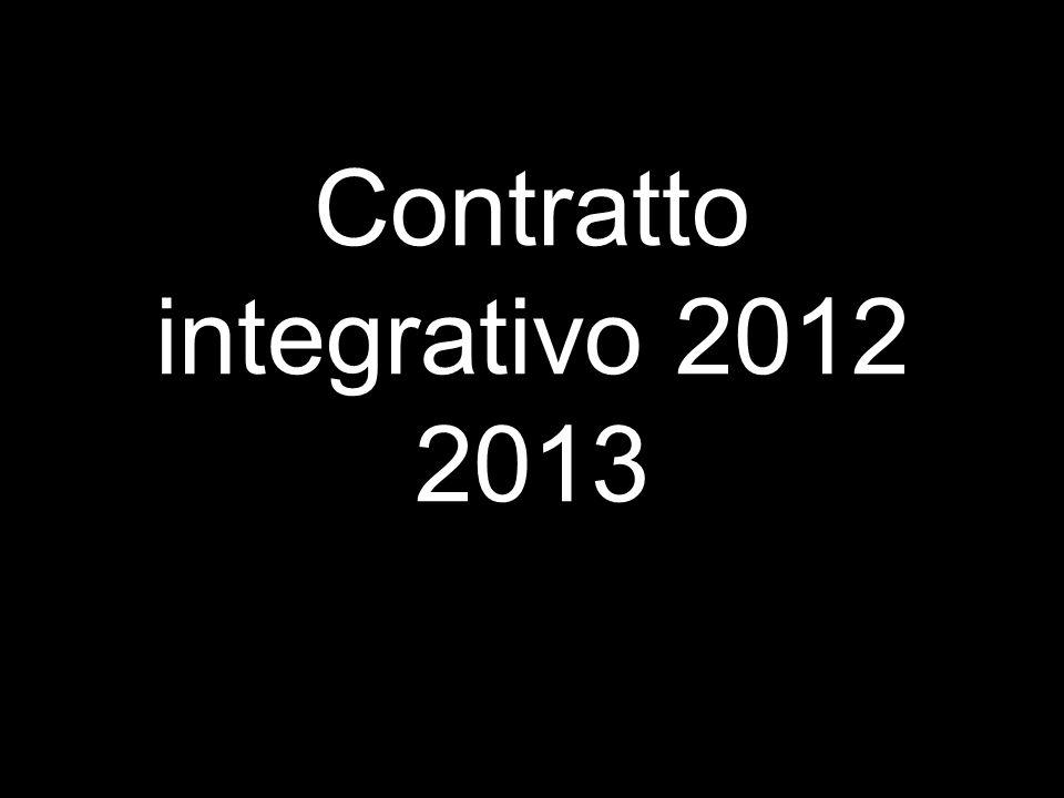 Contratto integrativo 2012 2013