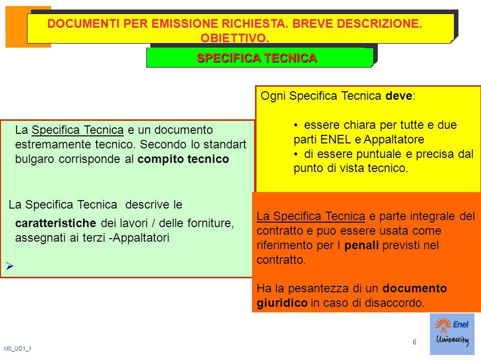 6 M0_UD1_1 DOCUMENTI PER EMISSIONE RICHIESTA. BREVE DESCRIZIONE.