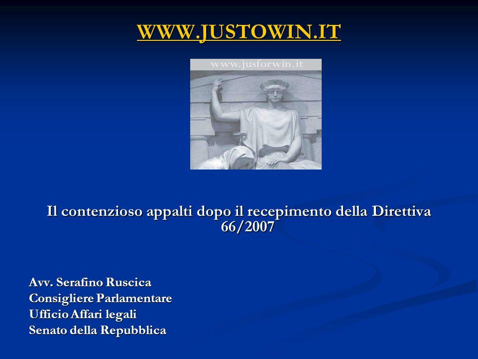 Art.245 (strumenti di tutela) (art. 81, direttiva 2004/18; art.