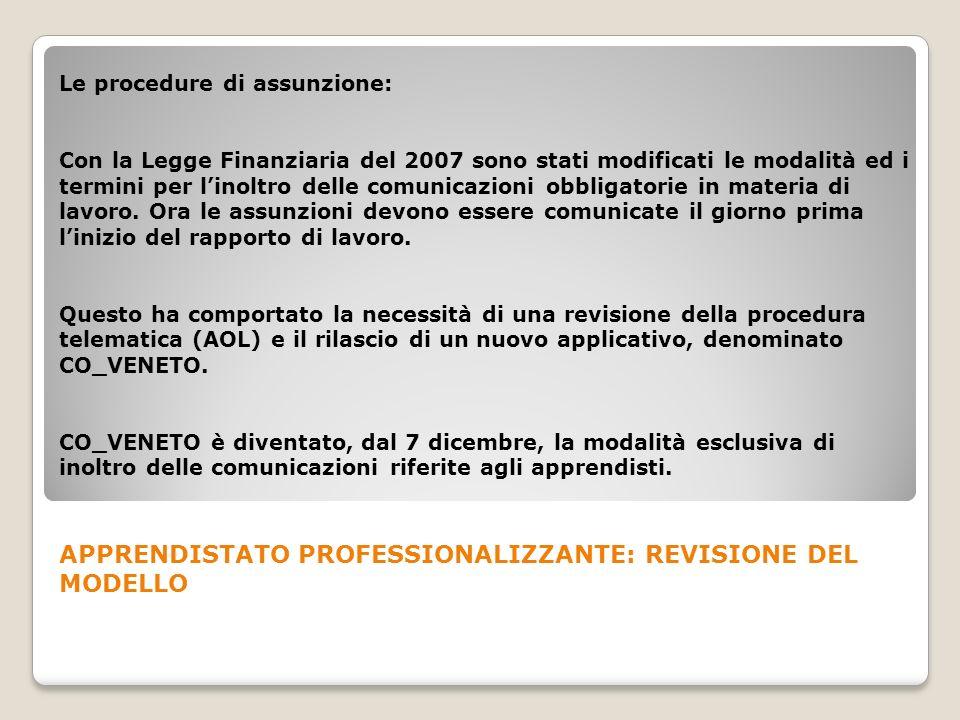 Le procedure di assunzione: Con la Legge Finanziaria del 2007 sono stati modificati le modalità ed i termini per linoltro delle comunicazioni obbligat