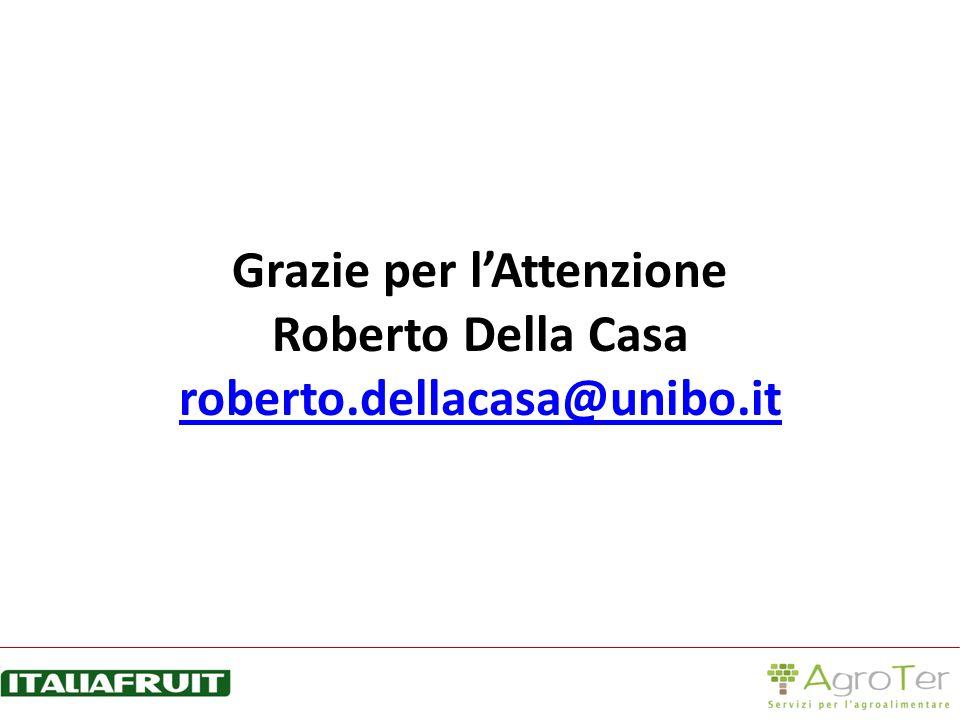 Grazie per lAttenzione Roberto Della Casa roberto.dellacasa@unibo.it