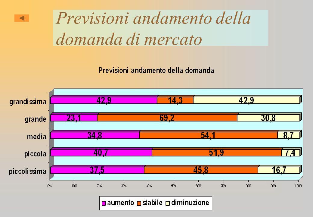 Previsioni andamento della domanda di mercato