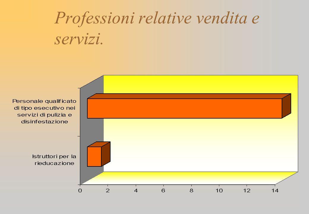 Professioni relative vendita e servizi.