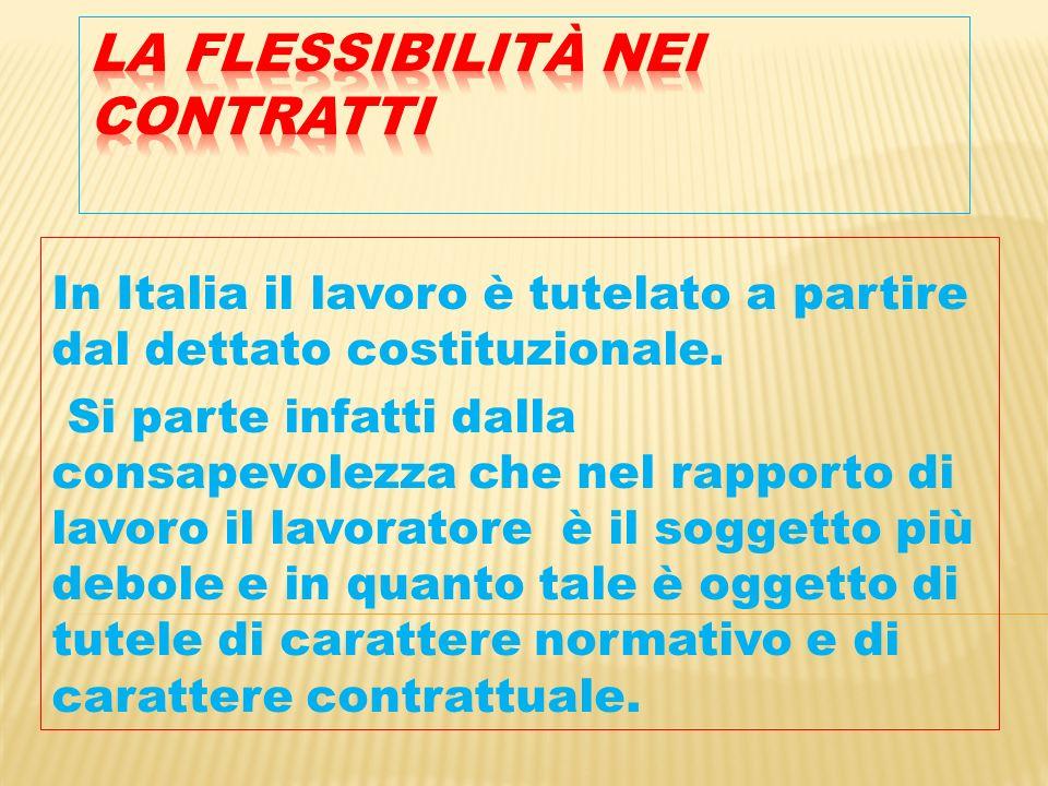 In Italia il lavoro è tutelato a partire dal dettato costituzionale.