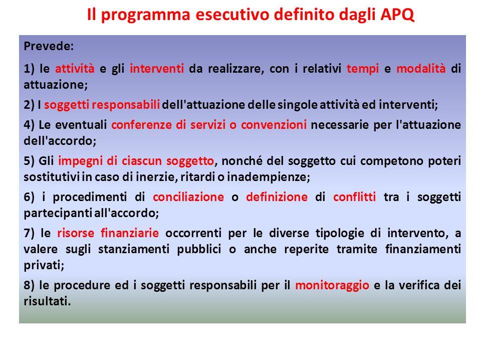 Prevede: 1) le attività e gli interventi da realizzare, con i relativi tempi e modalità di attuazione; 2) I soggetti responsabili dell'attuazione dell