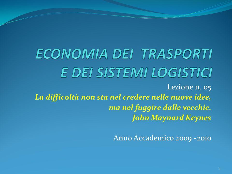 Lezione n. 05 La difficoltà non sta nel credere nelle nuove idee, ma nel fuggire dalle vecchie.