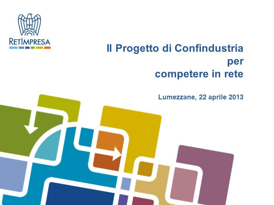 Il Progetto di Confindustria per competere in rete Lumezzane, 22 aprile 2013