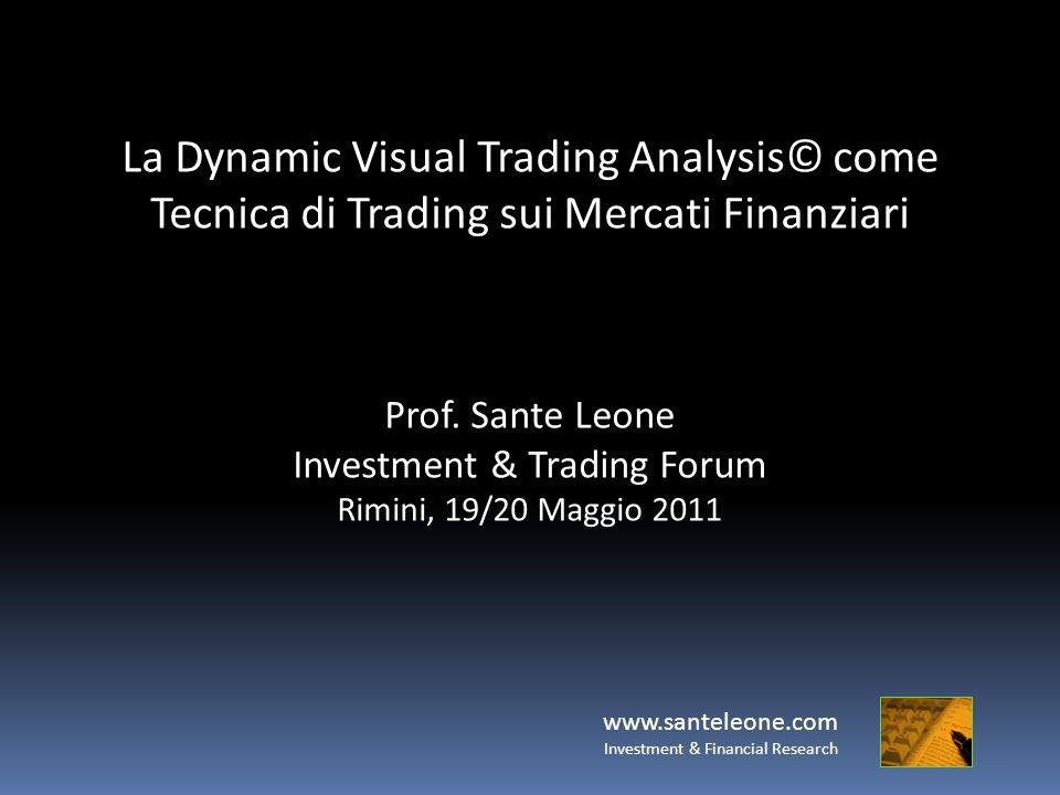 La Dynamic Visual Trading Analysis© come Tecnica di Trading sui Mercati Finanziari Prof. Sante Leone Investment & Trading Forum Rimini, 19/20 Maggio 2
