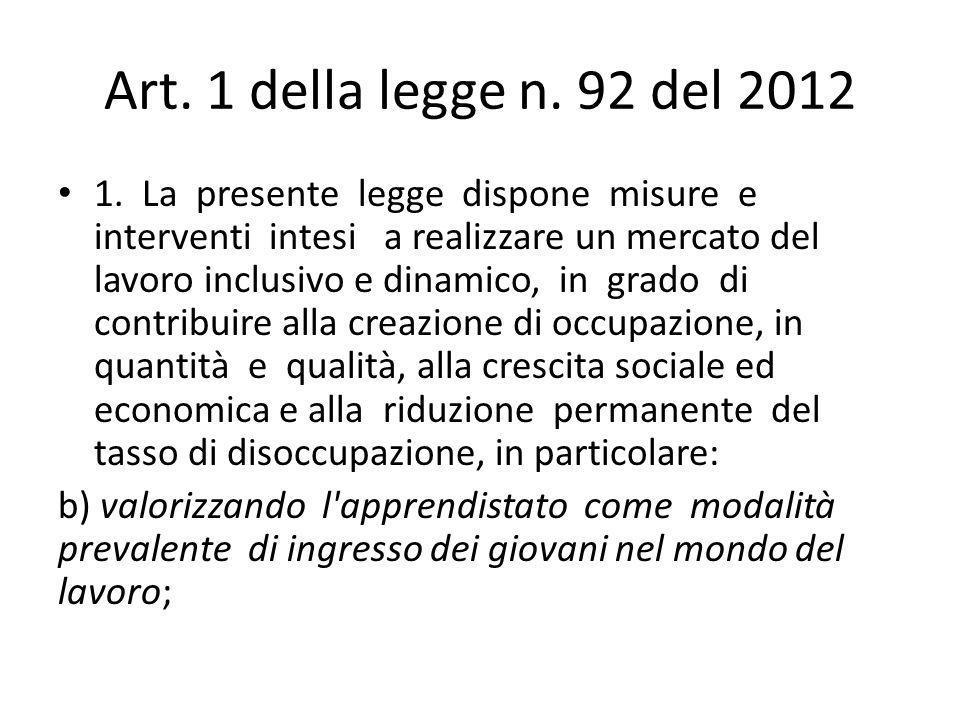 Art. 1 della legge n. 92 del 2012 1.