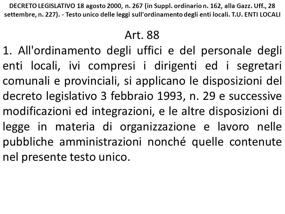 DECRETO LEGISLATIVO 18 agosto 2000, n. 267 (in Suppl.