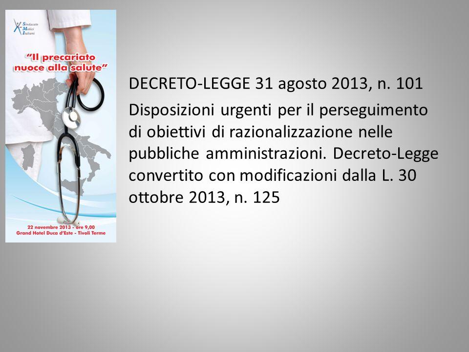 DECRETO-LEGGE 31 agosto 2013, n.