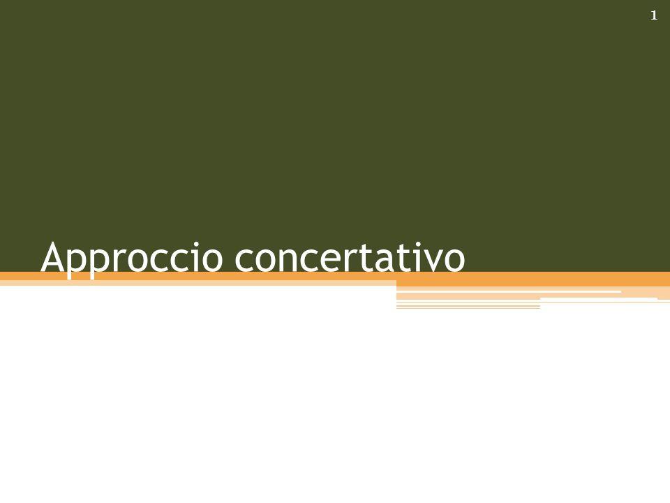 Approccio concertativo 1