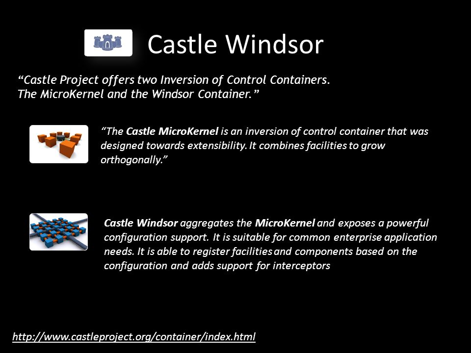 Castle Windsor Castle Project offers two Inversion of Control Containers.