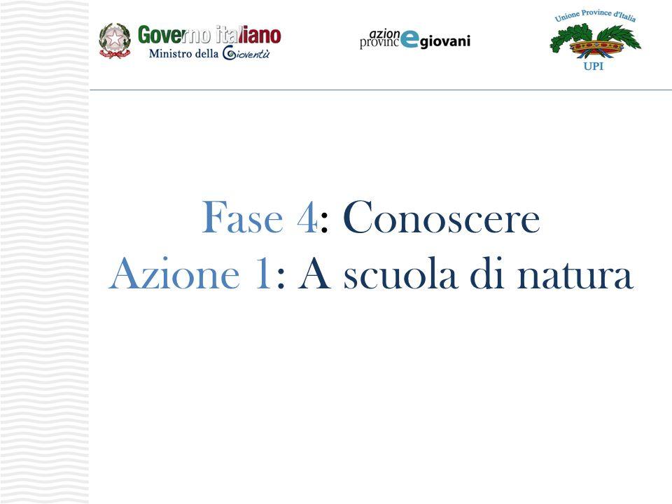 Fase 4: Conoscere Azione 1: A scuola di natura