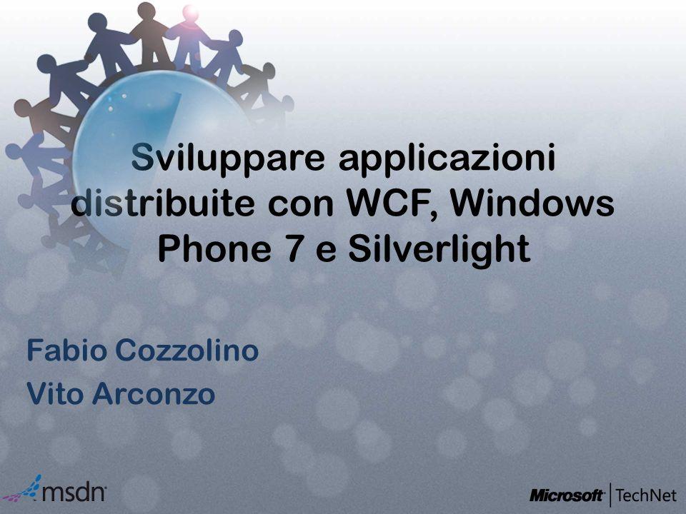 Sviluppare applicazioni distribuite con WCF, Windows Phone 7 e Silverlight Fabio Cozzolino Vito Arconzo