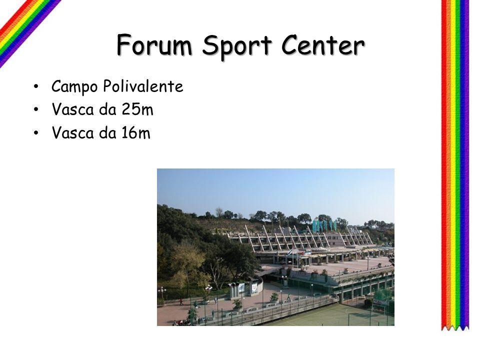 Forum Sport Center Campo Polivalente Vasca da 25m Vasca da 16m