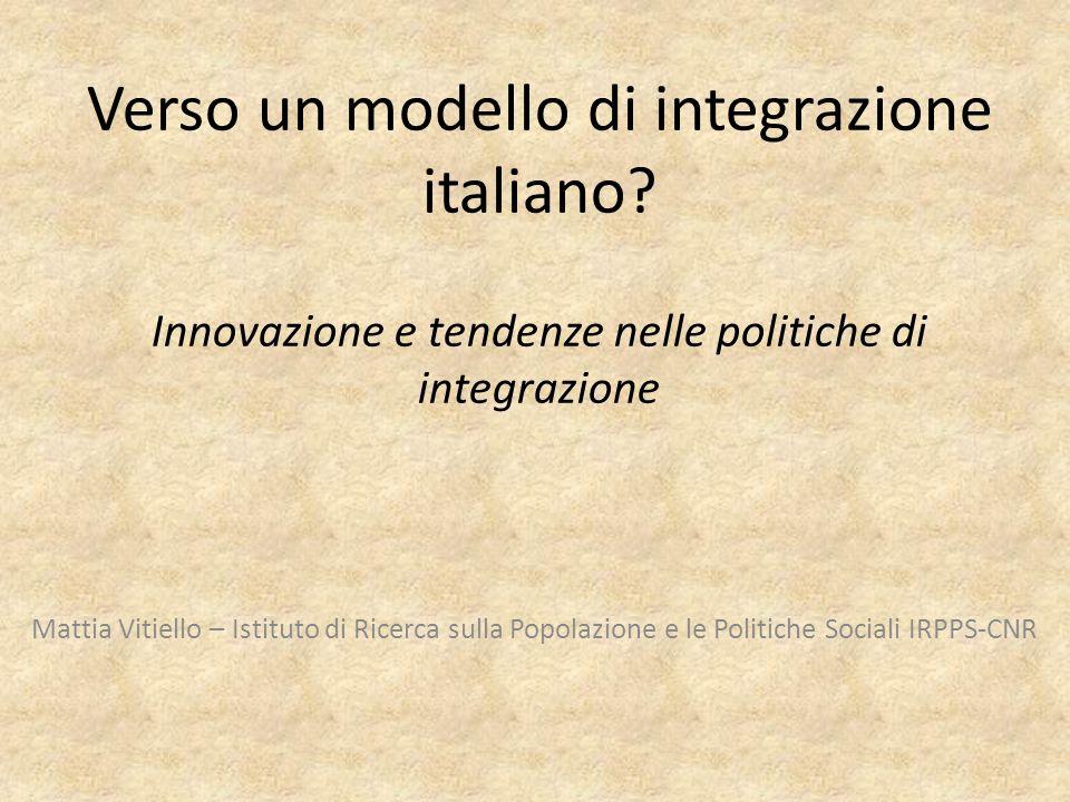 Verso un modello di integrazione italiano.