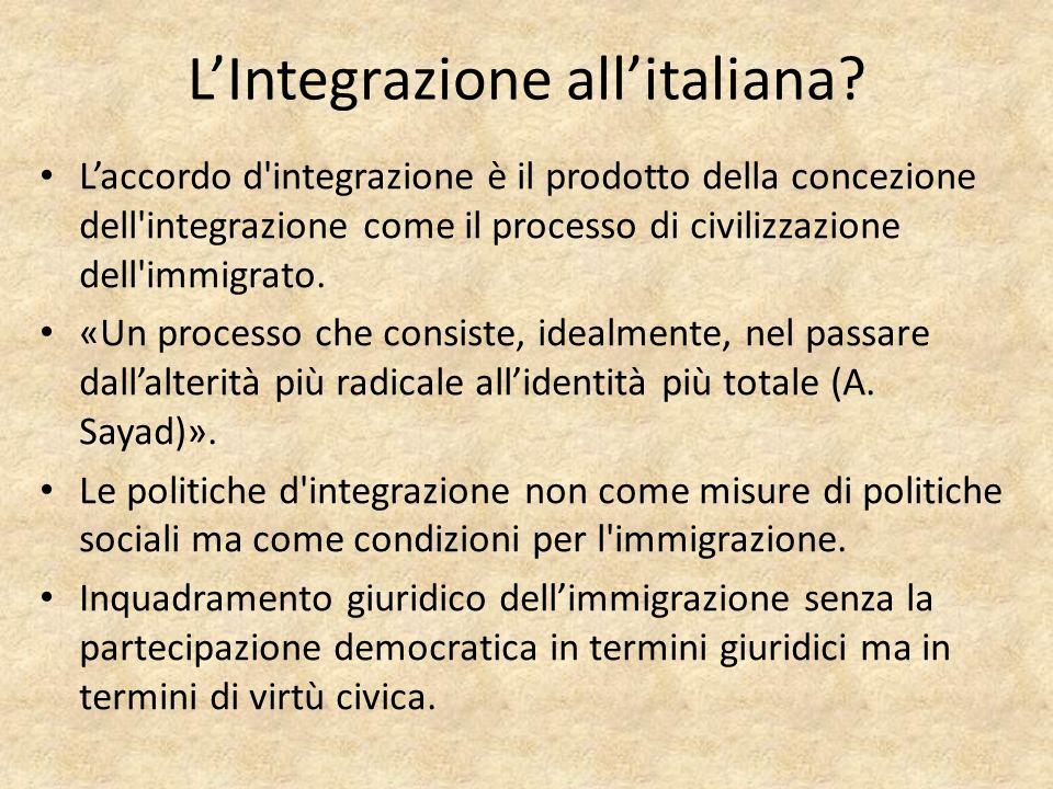 LIntegrazione allitaliana.