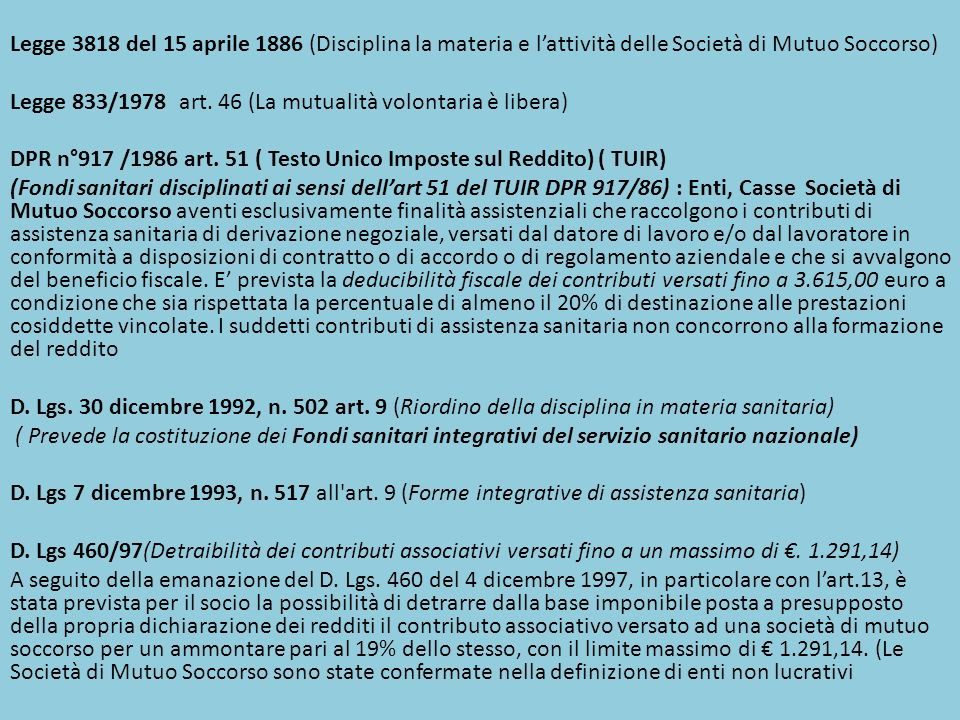D.Lgs 229/99(modificazioni del D. Lgs. 30 dicembre 1992, n.
