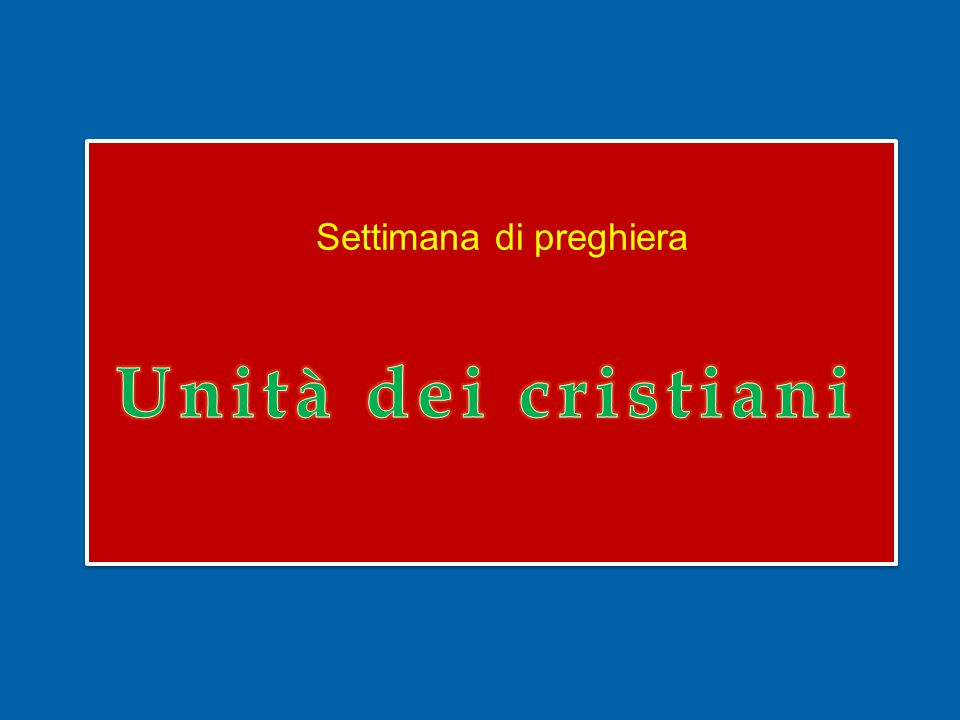 La nostra ricerca di unità nella verità e nellamore, infine, non deve mai perdere di vista la percezione che lunità dei cristiani è opera e dono dello Spirito Santo e va ben oltre i nostri sforzi.