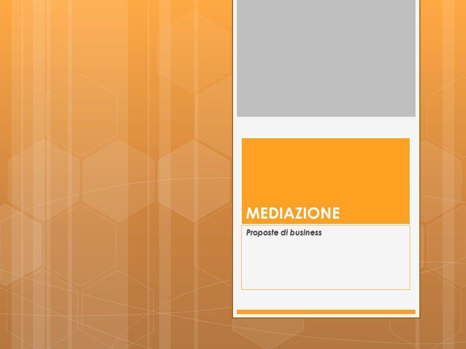 1.che cos è la mediazione 2.contesto di riferimento 3.opportunità di business i corsi di formazione e aggiornamento gli organismi di mediazione il centro di mediazione