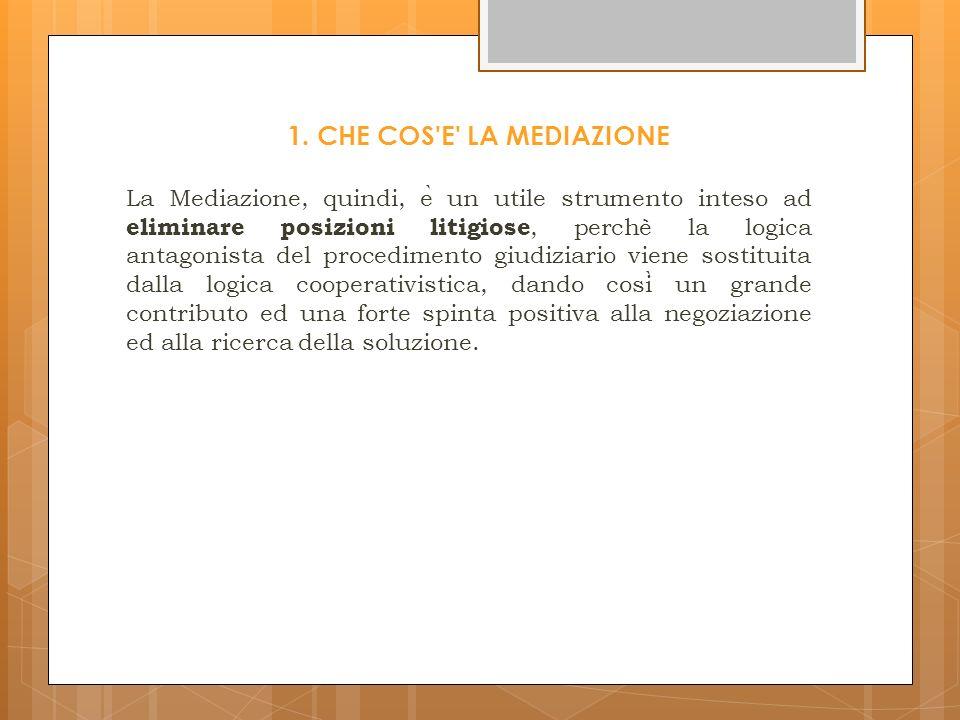 www.mediazionetrapari.wordpress.com IL MEDIATORE FORMA PROCESSO VERBALE NEGATIVO NELL EVENTUALE SUCCESSIVO GIUDIZIO: - IL GIUDICE PUO ASSUMERE ARGOMENTI DI PROVA DALLA MANCATA PARTECIPAZIONE ALLA MEDIAZIONE SENZA GIUSTIFICATO MOTIVO - LE DICHIARAZIONI RESE O LE INFORMAZIONI ACQUISITE NEL CORSO DELLA MEDIAZIONE NON POSSONO ESSERE UTILIZZATE ( SALVO CONSENSO DELLA PARTE DICHIARANTE) NE PROVATE PER TESTIMONI, NE ESSERE OGGETTO DI GIURAMENTO DECISORIO - NEL CASO IN CUI IL PROVVEDIMENTO CON CUI VIENE DEFINITO IL GIUDIZIO CORRISPONDE INTERAMENTE ALLA PROPOSTA, IL GIUDICE ESCLUDE LA RIPETIZIONE DELLE SPESE DELLA PARTE VINCITRICE CHE HA RIFIUTATO LA PROPOSTA E CONDANNA AL RIMBORSO DELLE SPESE SOSTENUTE DALLA PARTE SOCCOMBENTE NONCHE AL VERSAMENTI DI UNA SOMMA A FAVORE DELLO STATO - SE LA SENTENZA NON CORRISPONDE INTERAMENTE ALLA PROPOSTA IL GIUDICE PUO ESCLUDERE LA RIPETIZIONE DELLE SPESE SOSTENUTE DALLA PARTE VINCITRICE RELATIVAMENTE ALLA MEDIAZIONE, SE RICORRONO GRAVI ED ECCEZIONALI RAGIONI