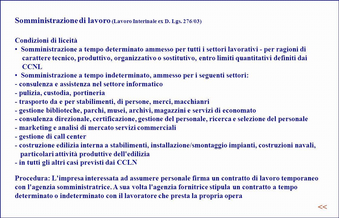 Somministrazione di lavoro (Lavoro Interinale ex D.