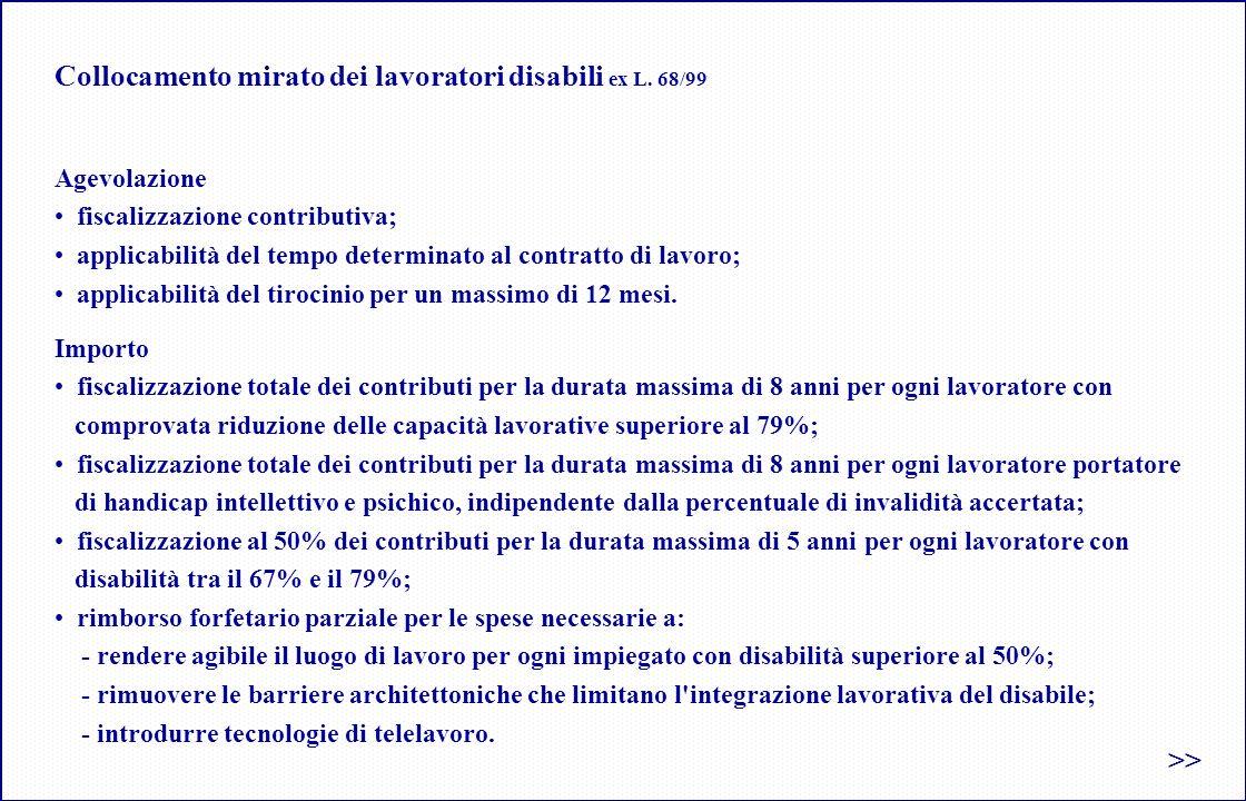Collocamento mirato dei lavoratori disabili ex L.