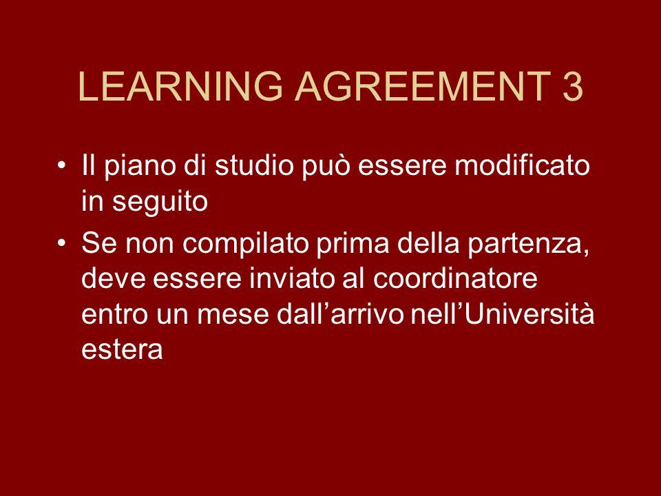 LEARNING AGREEMENT 2 Concordare programmi (con crediti) con i responsabili di area ATTENZIONE: Consultare tabella responsabili di area ATTENZIONE: non
