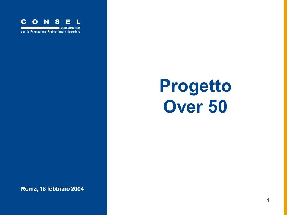 1 Roma, 18 febbraio 2004 Progetto Over 50