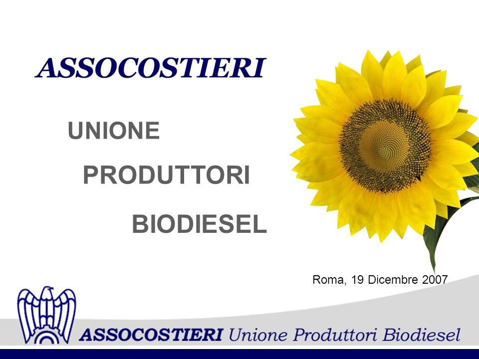 PRODUTTORI UNIONE BIODIESEL Roma, 19 Dicembre 2007
