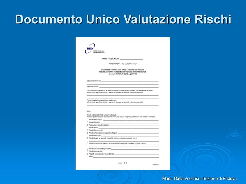 Marta Dalla Vecchia - Sezione di Padova Documento Unico Valutazione Rischi