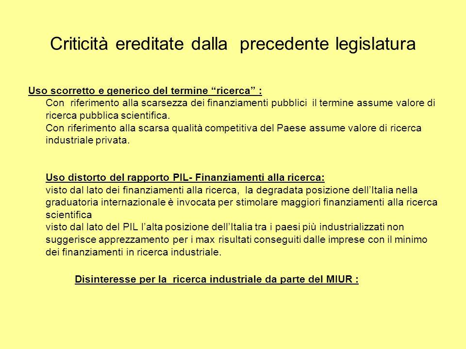 Dallagenda del Governo Prodi Punti su cui si incentra la politica industriale: 1.Il trasferimento tecnologico 2.Crescita dimensionale delle imprese 3.Internazionalizzazione tramite incentivi fiscali 4.Nuove imprese in nuovi settori