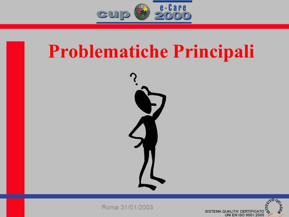 Problematiche Principali Roma 31/01/2003