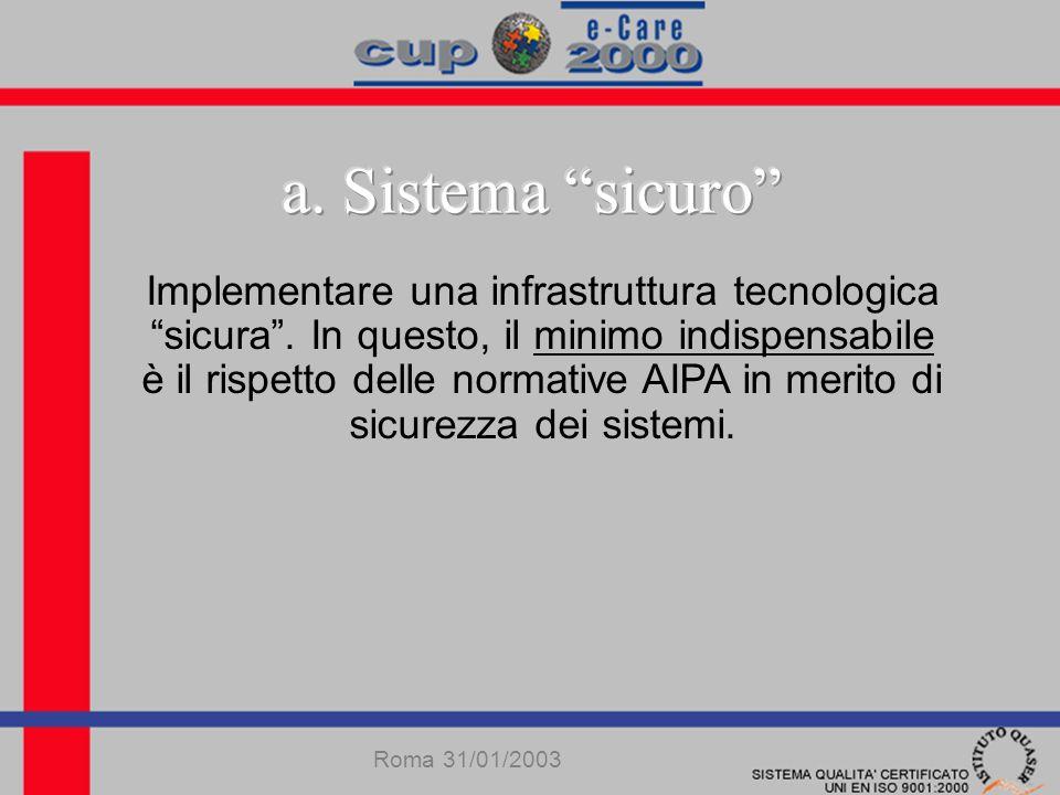 Implementare una infrastruttura tecnologica sicura.